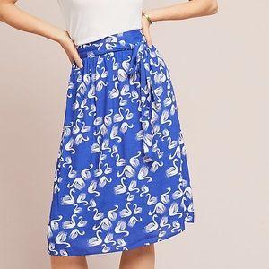 Brand new ANTHROPOLOGIE getaway printed skirt XS